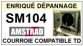 AMSTRAD-SM104-COURROIES-COMPATIBLES