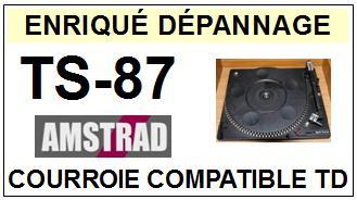 AMSTRAD-TS87 TS-87-COURROIES-ET-KITS-COURROIES-COMPATIBLES