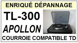 APOLLON TL300 TL-300 Courroie Tourne-disques <small>13-06</small>