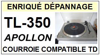 APOLLON TL350 TL-350 Courroie Tourne-disques <small>13-08</small>
