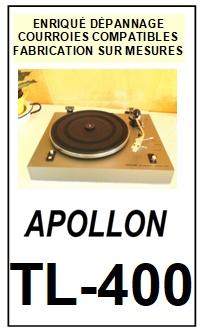 APOLLON-TL400 TL-400-COURROIES-COMPATIBLES
