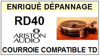 ARISTON AUDIO-RD40-COURROIES-ET-KITS-COURROIES-COMPATIBLES