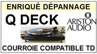ARISTON AUDIO-QDECK Q-DECK-COURROIES-ET-KITS-COURROIES-COMPATIBLES