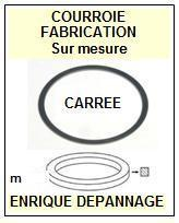 ARISTON<br> RD11S Courroie (square belt) pour tourne-disques<small> 2015-09</small>