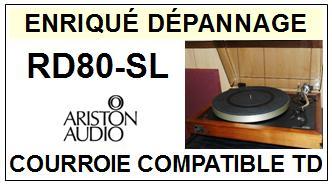 ARISTON AUDIO-RD80SL RD80-SL-COURROIES-ET-KITS-COURROIES-COMPATIBLES