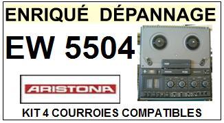 ARISTONA EW5504 EW-5504 kit 4 Courroies Magnétophone <small>13-10</small>