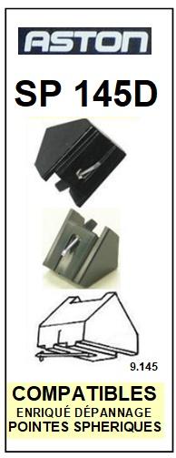 ASTON SP145D <br>Pointe diamant sphérique pour tourne-disques (stylus)<SMALL> 2015-11</SMALL>
