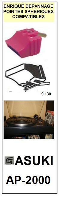ASUKI<br> AP2000 AP-2000 Pointe sphérique pour tourne-disques <BR><small>sc 2014-11</small>