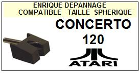 ATARI-CONCERTO 120-POINTES-DE-LECTURE-DIAMANTS-SAPHIRS-COMPATIBLES