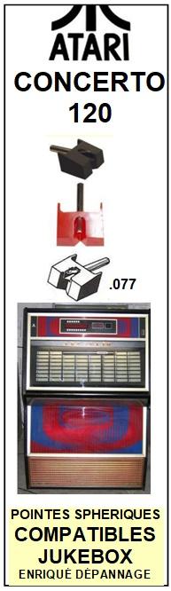 ATARI <BR>Jukebox CONCERTO 120  Pointe diamant sphérique <br><small>s-kit 2014-11</small>