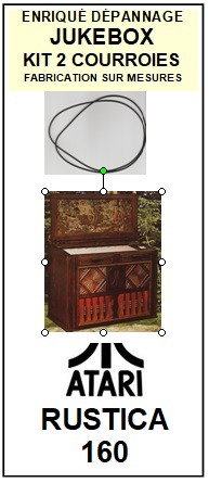 ATARI<br> RUSTICA 16  kit 2 Courroies (set belts) pour jukebox <BR><small>A 2015-04</small>