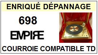 AUDIO EMPIRE-698-COURROIES-ET-KITS-COURROIES-COMPATIBLES