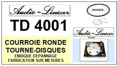 AUDIO LINEAR-TD4001-COURROIES-ET-KITS-COURROIES-COMPATIBLES