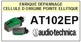 AUDIO TECHNICA AT102EP STANDARD T4P <br>Cellule d\'origine avec diamant Elliptique <SMALL>se+cel 2014-07</small>