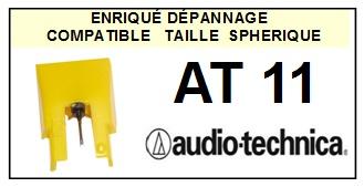 AUDIO TECHNICA-AT11-POINTES-DE-LECTURE-DIAMANTS-SAPHIRS-COMPATIBLES