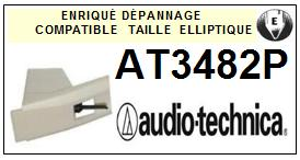 AUDIO TECHNICA  AT3482P  AT-3482P  Pointe de lecture compatible Diamant Elliptique