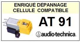 AUDIO TECHNICA<br> AT91  Cellule diamant Sphérique (<B>cartridge</B>)<small> 2016-05</small>