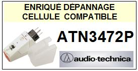 AUDIO TECHNICA ATN3472P ATN-3472P  T4P Cellule avec diamant Sphérique <small>13-10</small>