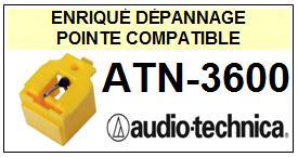 AUDIO TECHNICA  ATN3600  ATN-3600  Pointe de lecture compatible Diamant sphérique