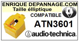 AUDIO TECHNICA ATN3601  Pointe de lecture compatible diamant Elliptique