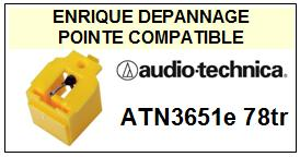 AUDIO TECHNICA ATN3651E  Pointe de lecture Compatible diamant 78TR
