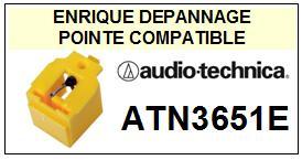 AUDIO TECHNICA ATN3651E  Pointe de lecture compatible Diamant sphérique