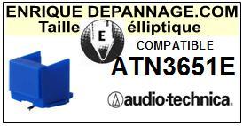 AUDIO TECHNICA ATN3651E  Pointe de lecture compatible diamant Elliptique