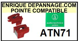 AUDIO TECHNICA<br> ATN7  Pointe Diamant sphérique <BR><small>se 2015-01</small>
