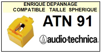 AUDIO TECHNICA  ATN91  ATN-91  Pointe de lecture compatible Diamant sphérique
