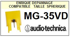 AUDIO TECHNICA MG35VD MG-35VD Pointe Diamant sphérique <BR><small>se 2014-03</small>