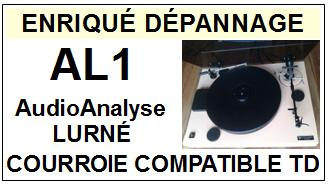 AUDIO ANALYSE AL1 pierre Lurné Courroie Tourne-disques <BR><small>a 2014-09</small>