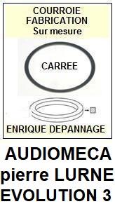 AUDIOMECA-EVOLUTION 3 PIERRE LURNE-COURROIES-ET-KITS-COURROIES-COMPATIBLES