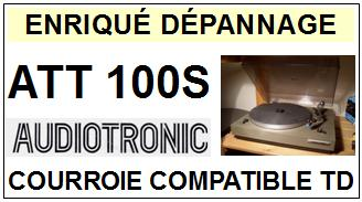 AUDIOTRONIC<br> ATT100S  courroie (flat belt) pour tourne-disques <BR><small>a 2015-02</small>