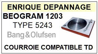 BANG OLUFSEN-BEOGRAM 1203 TYPE 5243-COURROIES-ET-KITS-COURROIES-COMPATIBLES
