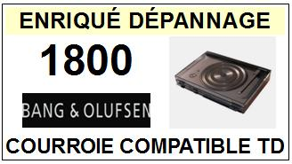 BANG OLUFSEN 1800 <br>courroie d\'entrainement pour tourne-disques (round belt)<small> 2015-11</small>