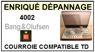 BANG OLUFSEN-4002-COURROIES-ET-KITS-COURROIES-COMPATIBLES