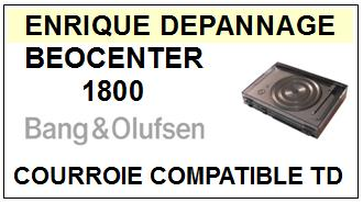 BANG OLUFSEN BEOCENTER 1800 <BR>courroie d\'entrainement pour tourne-disques (round belt)<small> 2015-12</small>