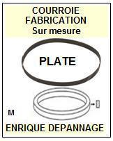 BANG OLUFSEN<br> BEOCENTER 2000 type 2101  courroie (flat belt) pour tourne-disques <BR><small>c+k7 2015-03</small>