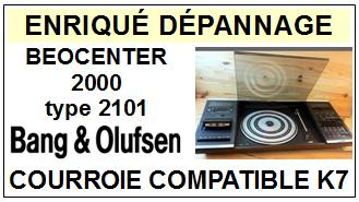 BANG OLUFSEN<BR> BEOCENTER 2000 type 2101  courroie (flat belt) pour platine K7 <br><SMALL>c+k7 2015-03</small>