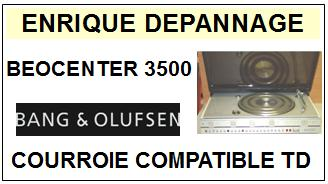 BANG OLUFSEN BEOCENTER 3500  Courroie Compatible Tourne-disques