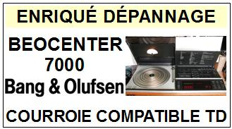 BANG OLUFSEN <br>BEOCENTER 7000  Courroie pour tourne-disques (belt) <BR><small>c+k7 2014-11</small>