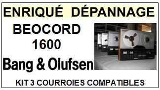 BANG OLUFSEN  BEOCORD 1600    kit 3 Courroies Compatibles Magnétophone