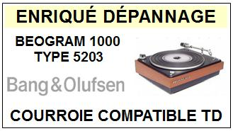 BANG OLUFSEN BEOGRAM 1000 TYPE 5203  Courroie Tourne-disques <BR><small>A13-12</small>