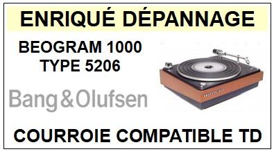 BANG OLUFSEN-BEOGRAM 1000 TYPE 5206-COURROIES-ET-KITS-COURROIES-COMPATIBLES