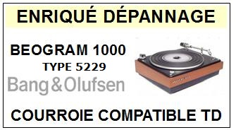 BANG OLUFSEN-BEOGRAM 1000 TYPE 5229-COURROIES-ET-KITS-COURROIES-COMPATIBLES