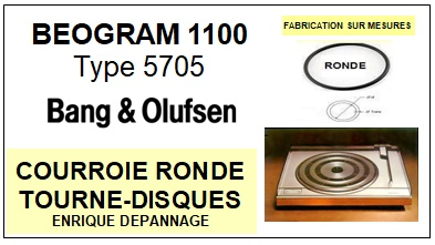 BANG OLUFSEN<br> BEOGRAM 1100 TYPE 5705 Courroie (round belt) Tourne-disques<small> 2015-09</small>