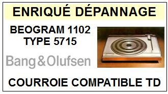 BANG OLUFSEN  BEOGRAM 1102 TYPE 5715    Courroie Compatible Tourne-disques