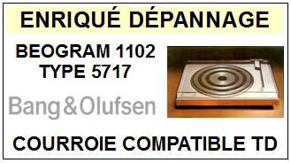 BANG OLUFSEN BEOGRAM 1102 TYPE 5717  Courroie Tourne-disques <small>13-09</small>
