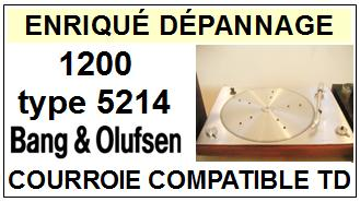 BANG OLUFSEN-BEOGRAM 1200 TYPE 5214-COURROIES-ET-KITS-COURROIES-COMPATIBLES