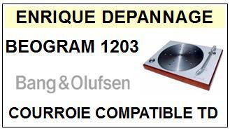 BANG OLUFSEN-BEOGRAM 1203 TYPE 5239-COURROIES-ET-KITS-COURROIES-COMPATIBLES